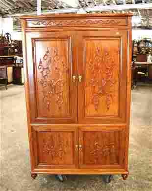 Asian inspired 4 door armoire/TV cabinet