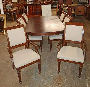 Cont. mah DRT + 6 tweed uph chairs