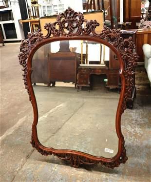 Fantastic vintage mah pierced carved mirror