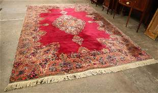 Semi antique red medallion Karastan rug