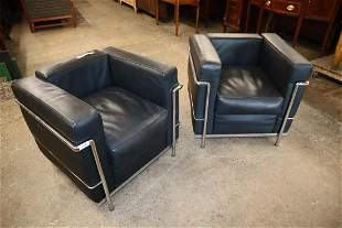 PR Modern Le Corbusier LCZ style leather chairs