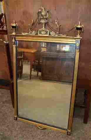 French Empire style semi antique mirror