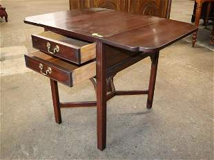Solid mah Henkel Harris drop side Pembroke table