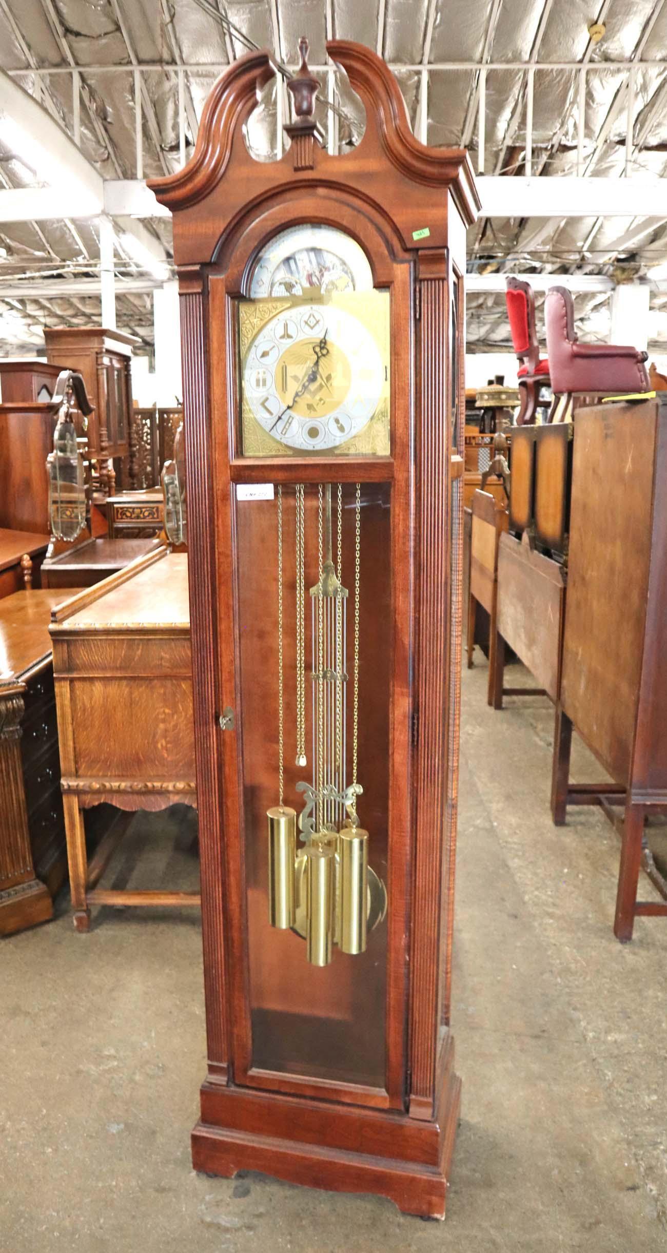 Howard Miller mah case grandfather clock
