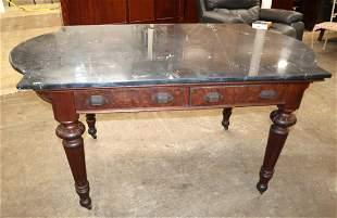 Antique Vict MT 2 drawer work table
