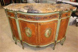 Beautiful marble top satin wood dresser