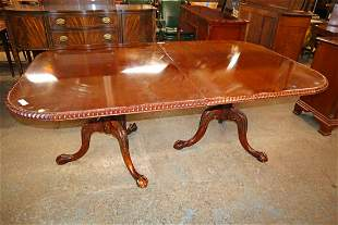Solid mahogany chippendale style banquet table
