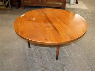 "MCM Danish walnut 36"" diameter coffee table"