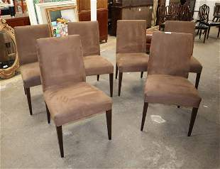 Set of 6 Crate & Barrel uph chairs