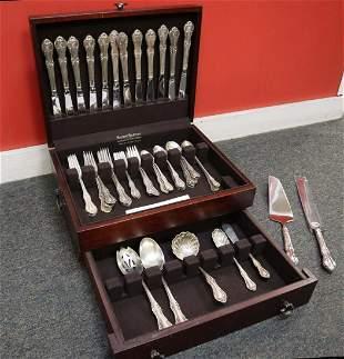 60pc International Sterling silver flatware
