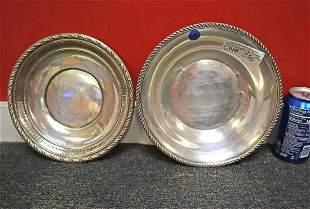2pc sterling bowl and under plate