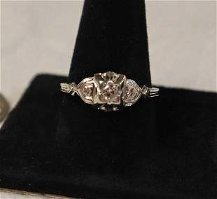 18k white gold w/diamonds engagement ring