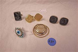 Lot of vintage men's cufflinks and more