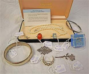 Lot of 10 14K gold, sterling and more