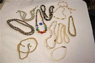 Lot of vintage costume beaded jewelry