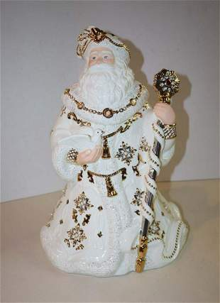 2003 Jeweled Santa cookie jar by Lenox