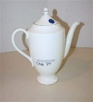 Wedgewood porcelain tea pot