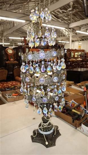 Vintage Italian 3 tier decorator lamp