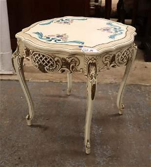 Italian paint decorated lamp table