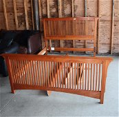 Stickley Solid Cherry queen size bed w/all parts