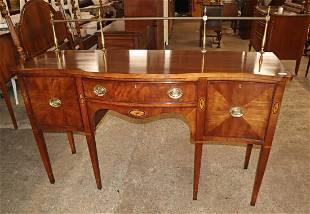 Statton mahogany sideboard w/tall brass gallery