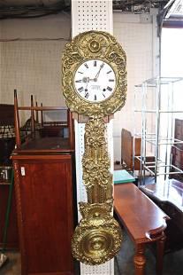 Antique FR brass wall clock