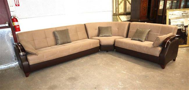 3pc modern design curved sectional sofa