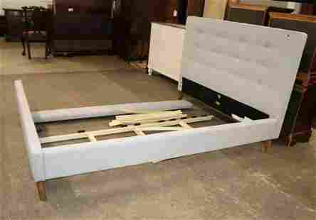 Cont. upholstered queen size bed with all parts