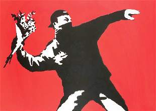 BANKSY Love is in the Air WCP Reproduction