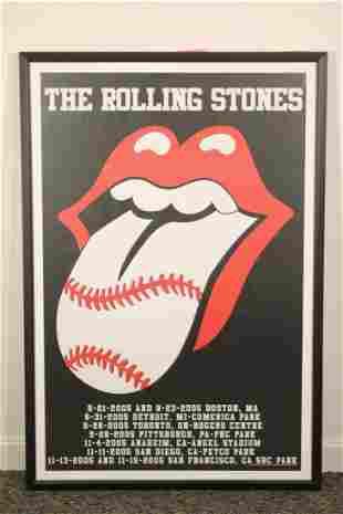 Rolling Stones Poster 2005 Baseball Stadiums