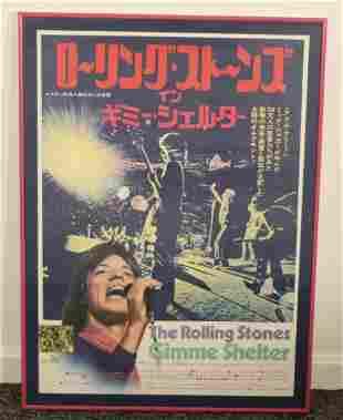 Vintage Japanese Poster Release of Gimme Shelter