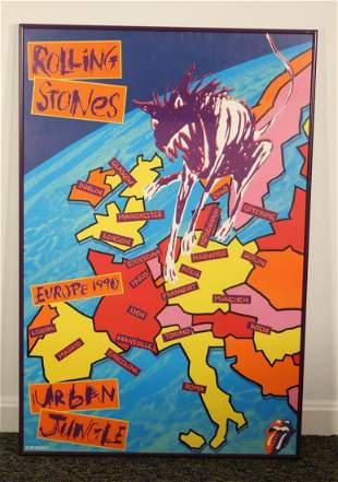 Rolling Stones 1990 Urban Jungle Tour Poster