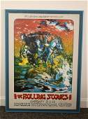 January 1973 Rolling Stones Concert Poster