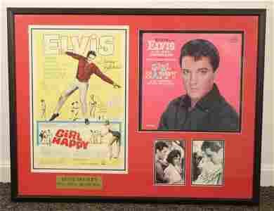 Elvis Presley Autographed Album Girl Happy