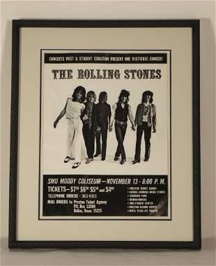 Rolling Stones Original Concert Poster 1969