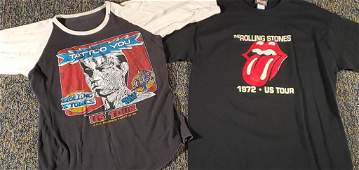 '72 & '81 Rolling Stones T-shirts