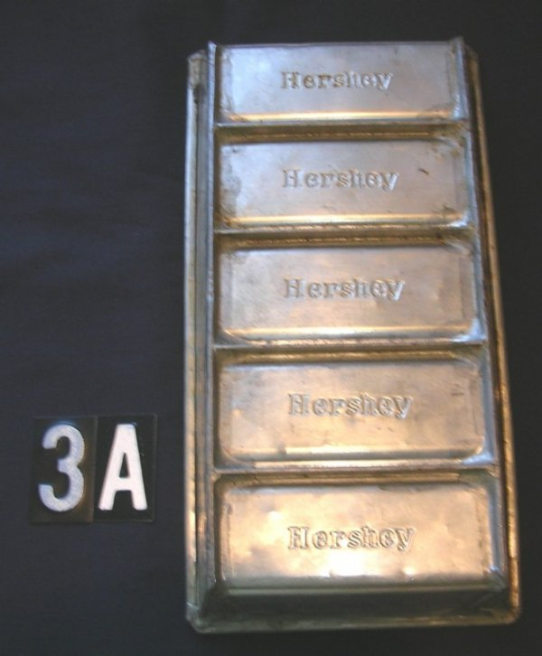 3A: Hershey Chocolate Candy Mold c.1900-1935