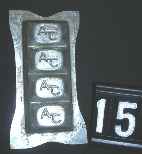 15: Vintage AC Chocolate Candy Mold c.1930-1960