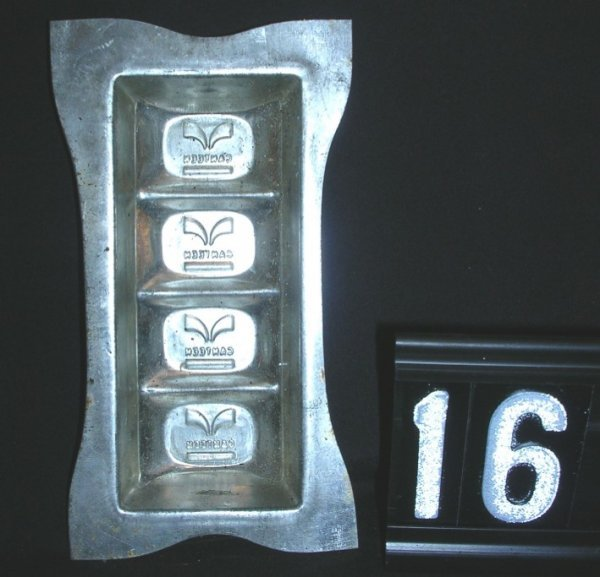 16: Canteen Chocolate Candy Mold c.1930-1960
