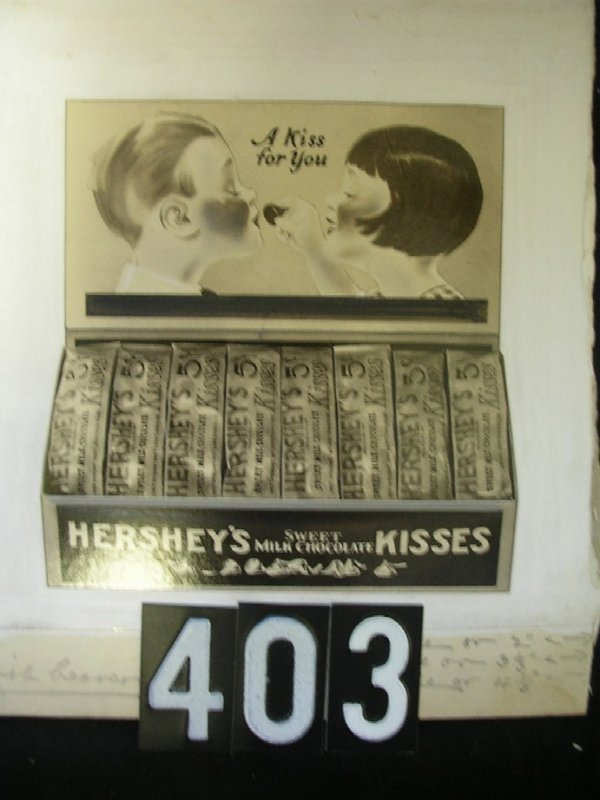 403: Original Artist Illustration-Hershey's Kisses 1930