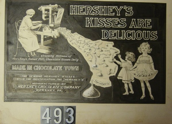 493: Original Advertising Prototype Hershey's Kisses