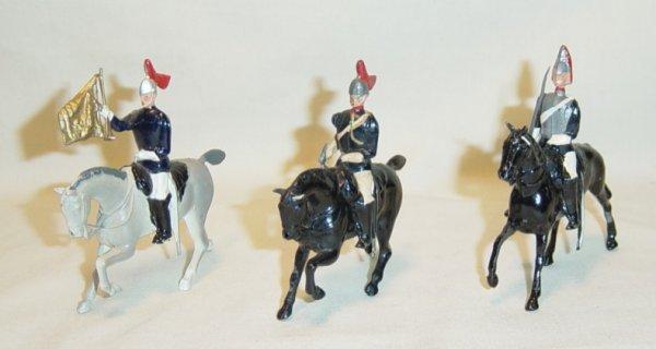 605: (3) Pcs. Britains Horse Guards