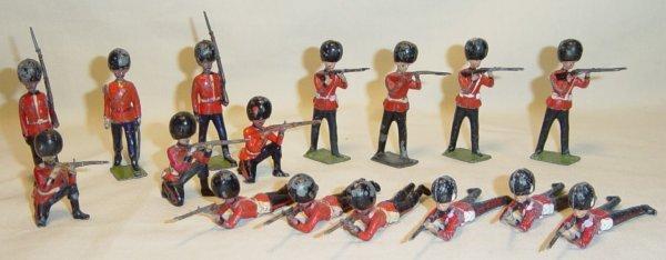 608: (16) Pcs. Britians Firing & Marching