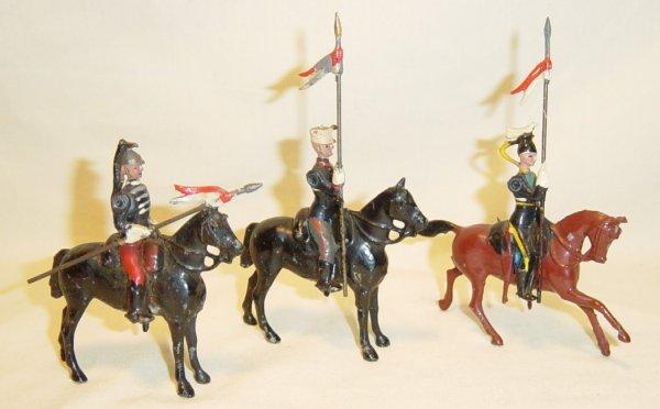 610: (3) Pcs. Britains Mounted