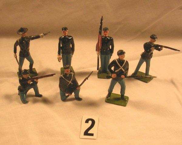 2: (7) Pcs. Britains Union Infantry Toy Soldiers