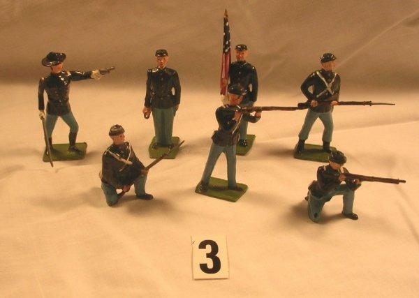 3: (7) Pcs. Britains Union Infantry Toy Soldiers