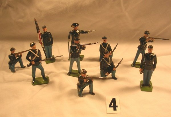 4:  Britains Union Infantry, Misc. Figures Toy Soldiers
