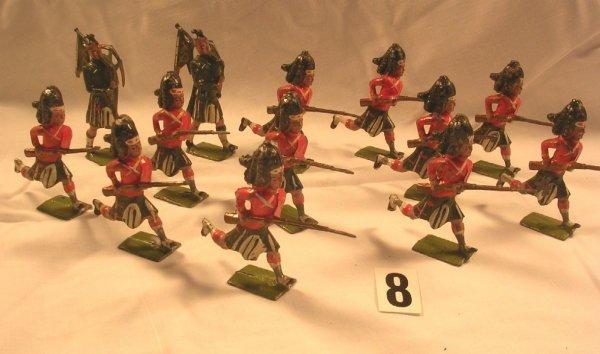 8: (13) Pcs. Britains Seaforth Highlander Display
