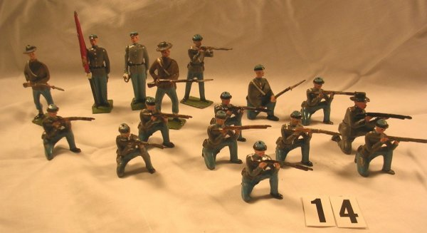 14: Britains Confederate Infantry Misc. Poses