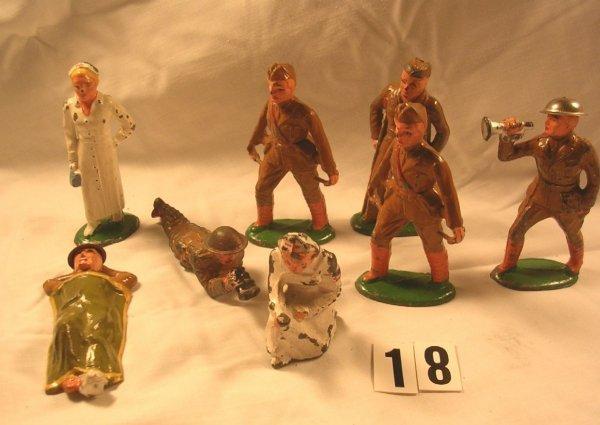 18:  American Dimestore Lot, Barclay Figures